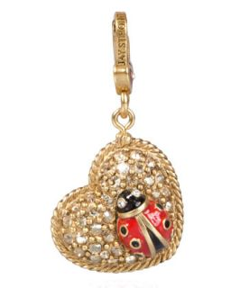 Marla Ladybug Heart Charm   Jay Strongwater   Multi colors
