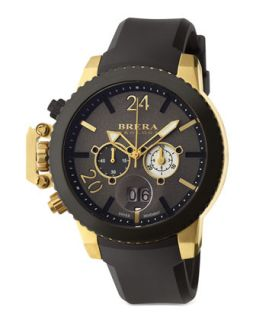 Mens Militare II Chronograph Watch, Gold/Black   Brera   Gold