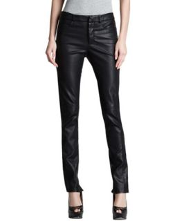 Womens Skinny Faux Leather Pants   Halston Heritage   Black (8)