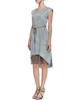 Womens Dorene Sleeveless Tie Waist Dress, Soft Sky   Elie Tahari   Soft sky