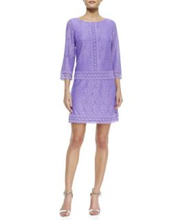 Womens 3/4 Sleeve Lace Drop Waist Dress   Laundry by Shelli Segal   Lily (8)
