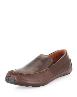Mens Akepa Moc Leather Loafer, Chocolate   Olukai   Chocolate (8.0D)