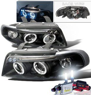 High Performance Xenon HID Audi A4 Projector Headlights with Premium Ballast (Black Housing w/ Clear Lens & 8000K HID Lighting Output) Automotive