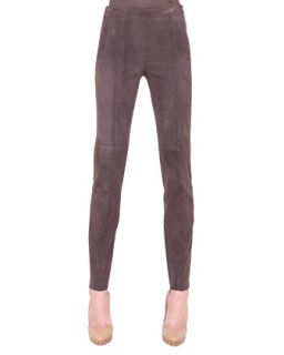 Womens Melissa Slim Stretch Leather Pants   Akris   Coach marron (34/4)