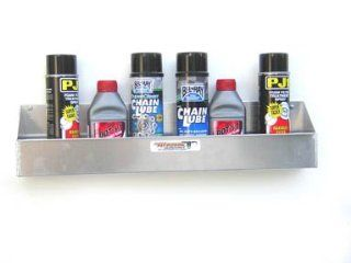 Aluminum 6 Mount Aerosal Shelf Holder Storage Shop Cabinet Race Car Enclosed Trailer Automotive