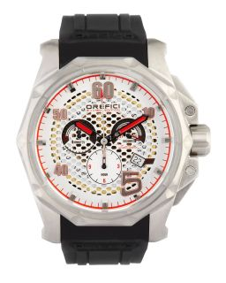 Mens E.J. Viso Limited Edition Watch, Stainless Steel/Black   Orefici Watches