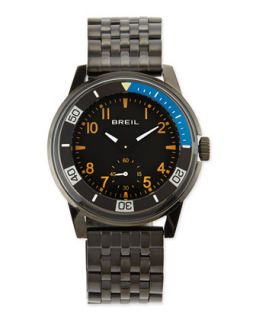 Mens Orchestra Black Plated Bracelet Watch, Black   Breil   Black