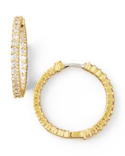 25mm Yellow Gold Diamond Hoop Earrings, 1.53ct   Roberto Coin   Yellow (25mm ,