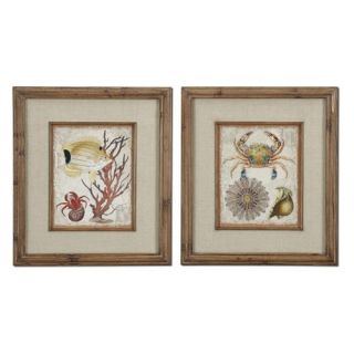Uttermost Tropical Waters Wall Art   Set of 2   Framed Wall Art
