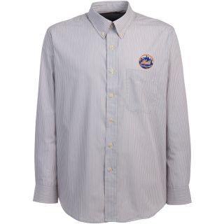 Antigua New York Mets Mens Republic Button Down Long Sleeve Dress Shirt   Size