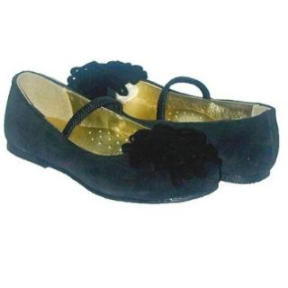Toddler Little Girls Footwear Black Velvet Dress Slippers Shoes 7 4 Mary Jane Flats Shoes