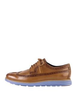Mens Lunargrand Long Wing Tip Shoe, Light Brown   Cole Haan   Light brown (7.