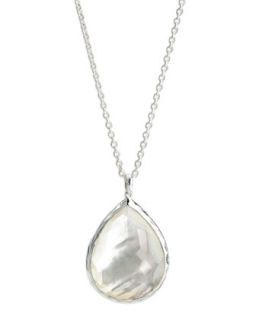 Sterling Silver Teardrop Pendant Necklace, Mother of Pearl   Ippolita   Silver