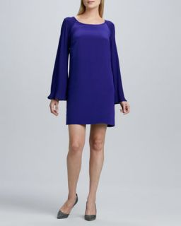 Womens Bell Sleeve Relaxed Dress   Nicole Miller Artelier   Lapis (SMALL)
