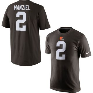 NIKE Mens Cleveland Browns Johnny Manziel Player Pride Name And Number T Shirt