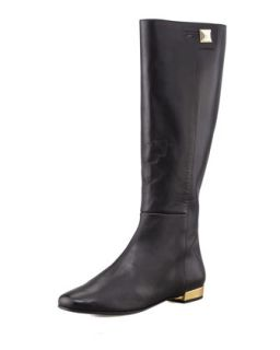 oliver flat golden heel knee boot   kate spade new york   Black (36.5B/6.5B)