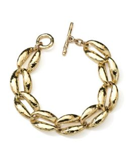 18K Gold Gl Coffee Bean Link Bracelet   Ippolita   Gold (18k )