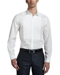 Mens Long Sleeve Dress Shirt, White   Versace Collection   White (43)