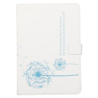 Lovely Dandelion Stand Case Shell Protector for Apple Ipad Mini (White Background Blue Flower) Computers & Accessories