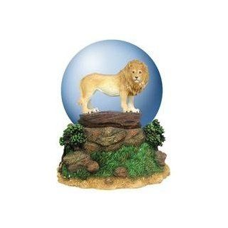King of the Jungle Waterglobe with Proud Lion Standing on a Cliff   Snow Globes