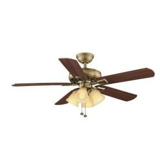 Hampton Bay Lyndhurst 52 in. Antique Brass Indoor Ceiling Fan