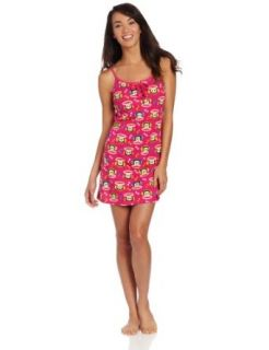 Paul Frank Women's Cool Runnings Julius Print Chemise, Fuchsia Multi, Small Nightgowns