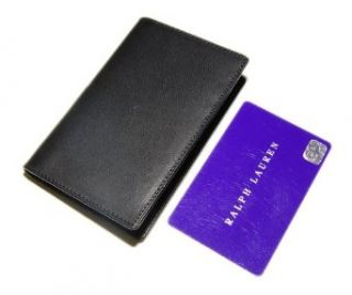 Polo Ralph Lauren Purple Label Mens Leather Credit Card Holder Wallet Black Clothing