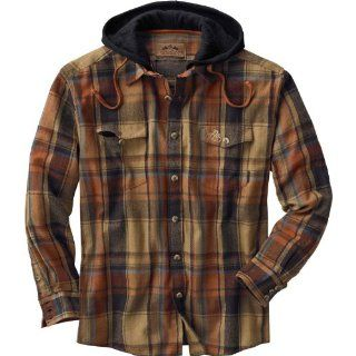 Legendary Whitetails Men's Cotton Lodge Pole Hooded Flannel Shirt  Camouflage Hunting Apparel  Sports & Outdoors
