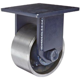 RWM Casters 125 Series Plate Caster, Rigid, Kingpinless, Forged Steel Wheel