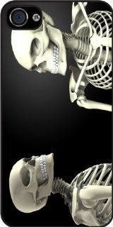 Rikki KnightTM Two Skeletons looking at each other Rubber Black iPhone Case (with bumper) Cover for Apple iPhone 4 & 4s Universal Verizon   Sprint   AT&T Cell Phones & Accessories