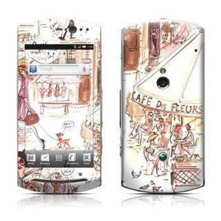 Paris Makes Me Happy Design Protective Skin Decal Sticker for Sony Ericsson Xperia Neo MT15i Cell Phone Cell Phones & Accessories