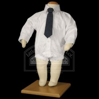 Baby Boys White Long Sleeve Dress Shirt Bodysuit 18M Little Things Mean A Lot Clothing