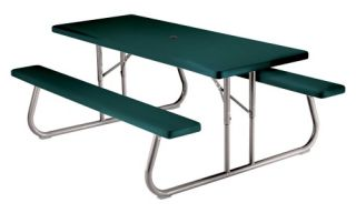 Lifetime Products 6 ft. Folding Green Picnic Table   Picnic Tables