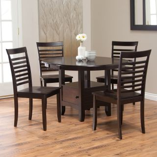 Boraam Madison Storage Dining Table Set   Cappuccino   Dining Table Sets