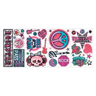 Girls Rock n Roll Peel and Stick Wall Decals   Wall Decals