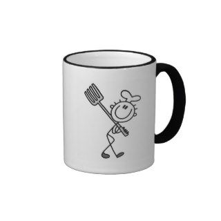 Stick Figure Chef with Fork Tshirts and Gifts Coffee Mug