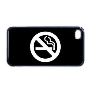 No Smoking Apple PLASTIC iPhone 5 Case / Cover Verizon or At&T Phone Great Gift Idea Cell Phones & Accessories