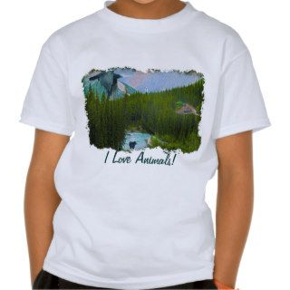 Rocky Mountain Scene with Animal lover T Shirt