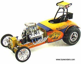 1800803 Acme   California Hot Rod Reunion 20th Anniversary Rat Trap Dragster (118, Orange) 1800803 Diecast Car Model Auto Vehicle Automobile Metal Iron Toy Toys & Games