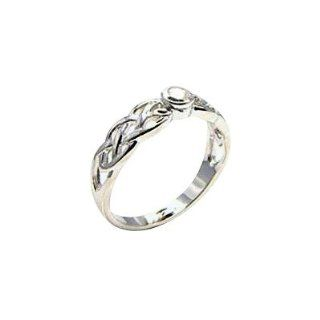 Sterling Silver Trinity Knot Celtic Ring, Cubic Zirconia Stone (Weight 3 gms)   6 HYPM Jewellery Jewelry
