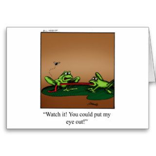 Funny Frog Cartoon Art Gifts Greeting Card