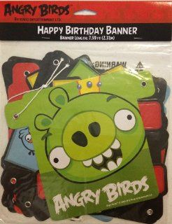 Angry Birds Happy Birthday Letter Banner 7.59' Feet Long Health & Personal Care