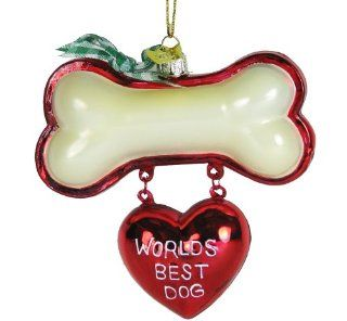 Kurt Adler Noble Gems Best Dog, Christmas Ornament   World S Best Dog Christmas Ornament