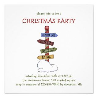 Christmas Collection · North Pole Street Signs Custom Invitations