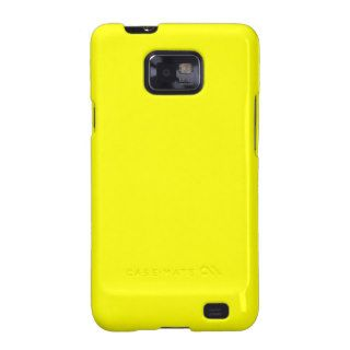 Pure Yellow   Neon Lemon Bright Template Blank Galaxy S2 Cover