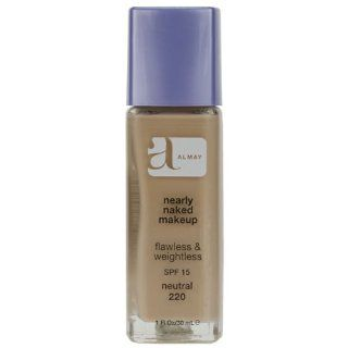 Almay Nearly Naked Makeup with SPF 15, Neutral 220, 1 Ounce Bottle  Foundation Makeup  Beauty