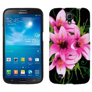Samsung Galaxy Mega Summer Lilies on Black Phone Case Cover Cell Phones & Accessories