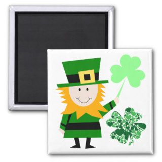 Leprechaun Irish Folklore  Fairy  Elf Art Cute Fun Magnets