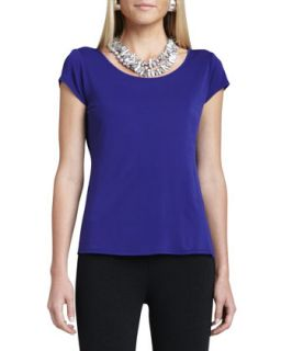Silk Jersey Cap Sleeve Tee, Womens   Eileen Fisher