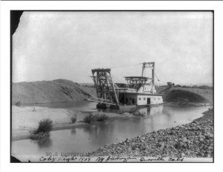 Historic Print (M) [Large dredge being used in gold dredging operation on Yuba River (?) near Marysville, C